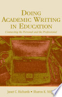 Doing Academic Writing in Education Book