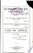 The Continental National Bank of New York, Against John B. Haskin, Impleaded with John R. Fellows