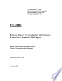 Progress Report for Combustion and Emission Control for Advanced CIDI Engines Book