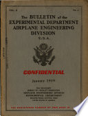 The Bulletin Of The Airplane Engineering Department U S A  Book PDF