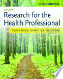 Bailey S Research For The Health Professional