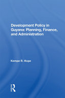 Development Policy In Guyana