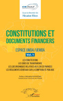 Constitutions et documents financiers Vol 1 Espace UMOA/UEMOA