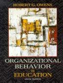 Organizational Behavior in Education Book