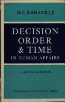 Pdf Decision, Order, and Time in Human Affairs