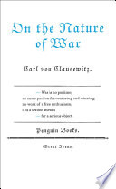 On The Nature Of War Book