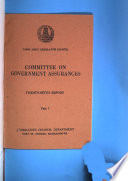 Report - Committee on Government Assurances