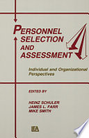 Personnel Selection and Assessment