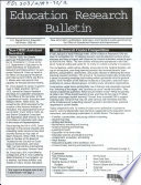 Education Research Bulletin