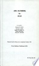 Area Handbook for Spain Book
