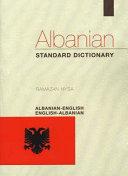Albanian English  English Albanian Standard Dictionary