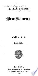 Kirke-Salmebog : Festsalmer