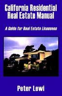 California Residential Real Estate Manual