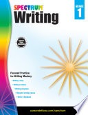 Spectrum Writing Grade 1