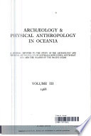 Archaeology & Physical Anthropology in Oceania