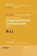 The Chemistry of Organolithium Compounds  2 Volume Set