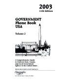 Government Phone Book USA 2003