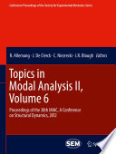 Topics In Modal Analysis Ii Volume 6 Book PDF