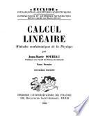Calcul linéaire