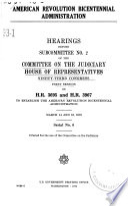 American Revolution Bicentennial Administration Book PDF