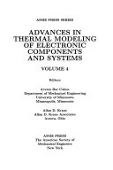 Advances in Thermal Modeling of Electronic Components and Systems  Volume 4
