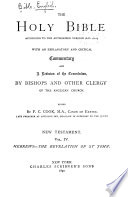 The Holy Bible According To The Authorized Version A D 1611 Hebrews To Revelation 1890