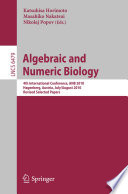Algebraic and Numeric Biology  : 4th International Conference, ANB 2010, Hagenberg, Austria, July 31-August 2, 2010, Revised Selected Papers