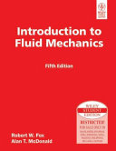 INTRODUCTION TO FLUID MECHANICS  5TH ED Book