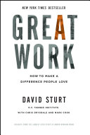 Great Work: How to Make a Difference People Love [Pdf/ePub] eBook