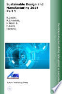 Sustainable Design and Manufacturing 2014 Part 1 Book
