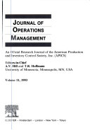 Journal of Operations Management