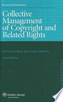 Collective Management of Copyright and Related Rights