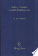 Index Verborum In Arati Phaenomena