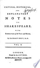 Critical Historical And Explanatory Notes On Shakespeare