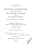 A Manual of English Literature Book