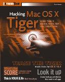 Hacking Mac OS X Tiger Book
