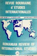Revue roumaine d   tudes internationales