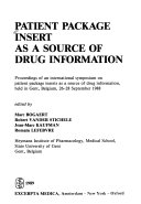 Patient Package Insert as a Source of Drug Information