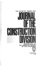 Journal of the Construction Division