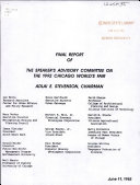 Final Report Of The Speaker S Advisory Committee On The 1992 Chicago World S Fair
