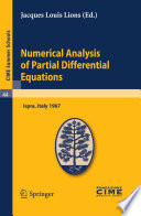 Numerical Analysis of Partial Differential Equations Book