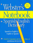 Webster s Notebook Spanish English Dictionary