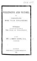 Wellington and Victory  Or  Christians More Than Conquerors