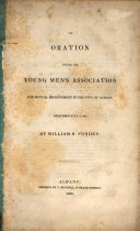 An Oration Before the Young Men's Association for Mutual Improvement in the City of Albany ebook