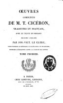Oeuvres complètes de M.T. Cicéron