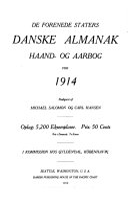De Forenede staters danske almanak, haand- og aarbog