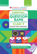 Oswaal Karnataka Question Bank Class 9 English First Language Book Chapterwise Topicwise For 2022 Exam