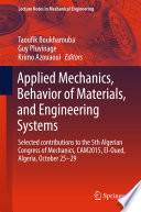 Applied Mechanics  Behavior of Materials  and Engineering Systems