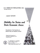Mobility for States and State Economic Areas ebook
