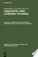 Linguistics and Literature   Sociolinguistics and Applied Linguistics